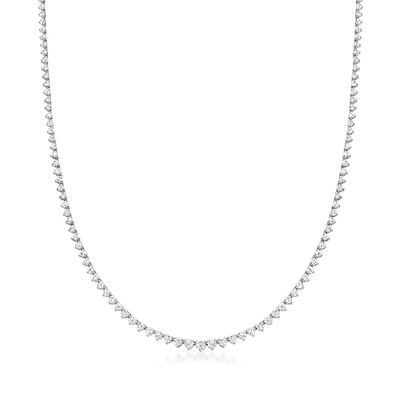 5.00 ct. t.w. Diamond Tennis Necklace in 14kt White Gold
