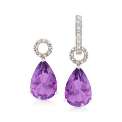 4.60 ct. t.w. Amethyst Pear-Shaped Earring Charms in Sterling Silver, , default