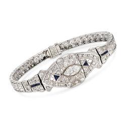 C. 1950 Vintage 3.00 ct. t.w. Diamond Bracelet in 18kt White Gold, , default