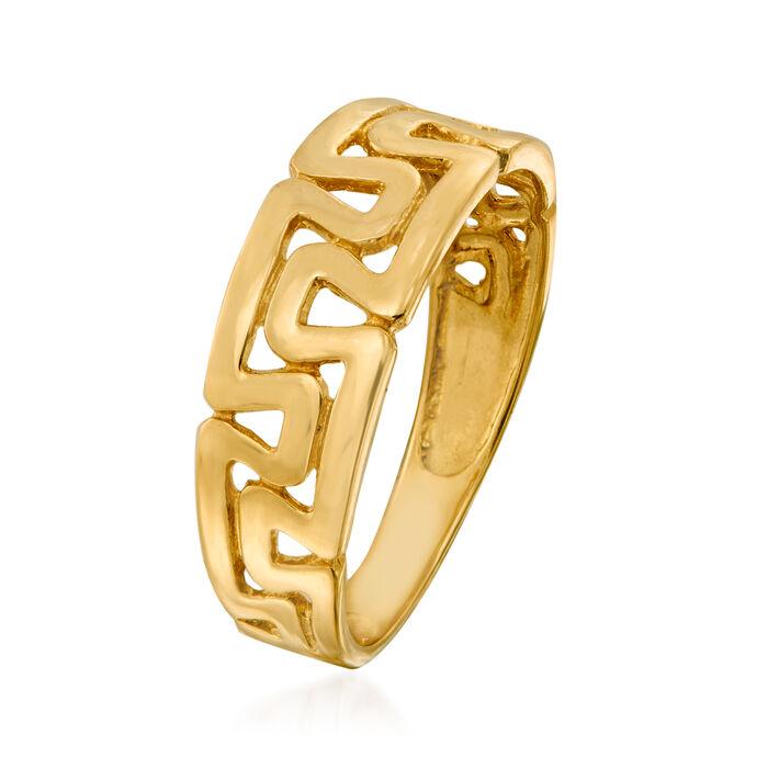 14kt Yellow Gold Greek Key Ring