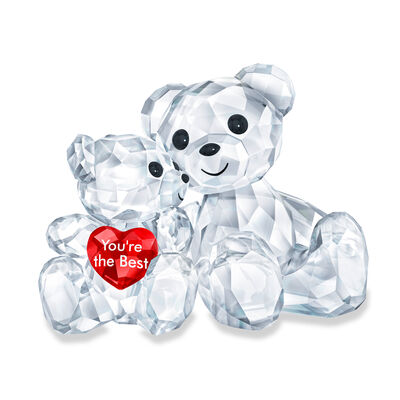 "Swarovski Crystal ""You'Re the Best"" Kris Bear Parent and Child Figurine"