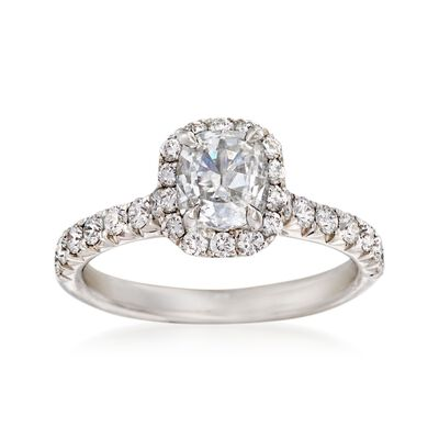 Henri Daussi 1.56 ct. t.w. Diamond Engagement Ring in 18kt White Gold, , default