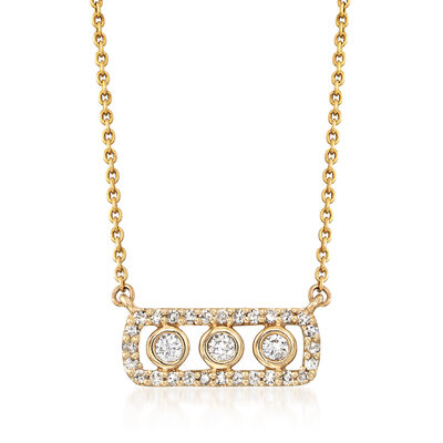 .27 ct. t.w. Diamond Bezel Frame Necklace in 14kt Yellow Gold, , default