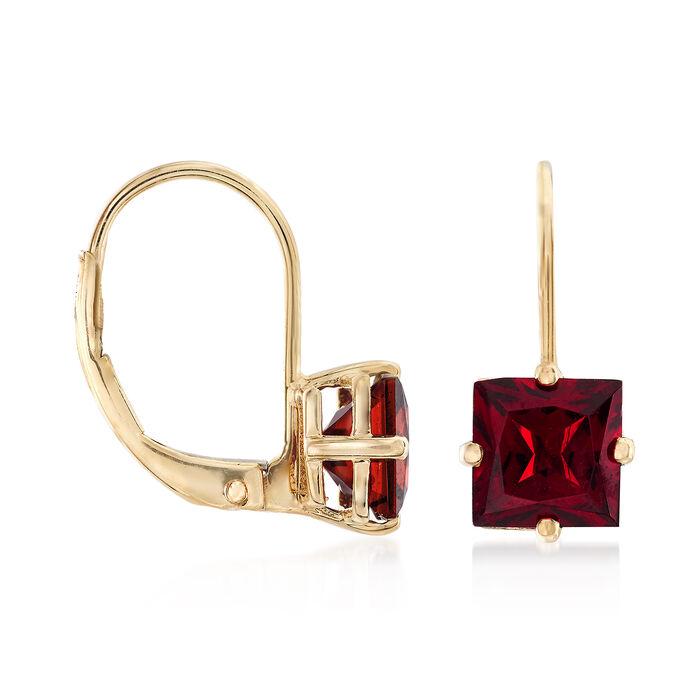 2.68 ct. t.w. Garnet Earrings in 14kt Yellow Gold