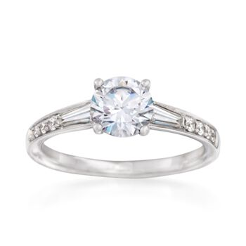 Simon G. .38 ct. t.w. Diamond Engagement Ring Setting in 18kt White Gold, , default