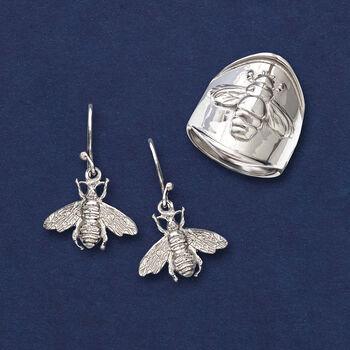 Italian Sterling Silver Bee Ring, , default
