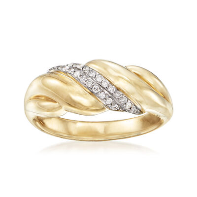 .13 ct. t.w. Diamond Sash Ring in 14kt Yellow Gold