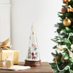 Merry & Magic Glass Santa Scene by Lenox, , default