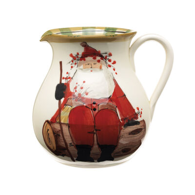 """Vietri """"Old St. Nick"""" Pitcher from Italy"""