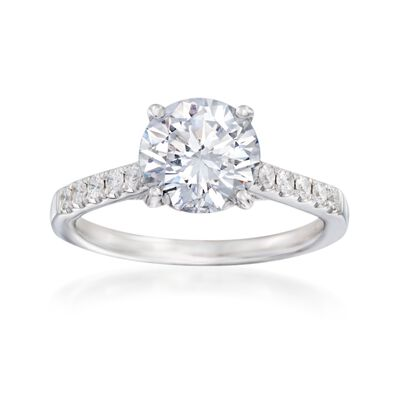 .29 ct. t.w. Diamond Engagement Ring Setting in 14kt White Gold