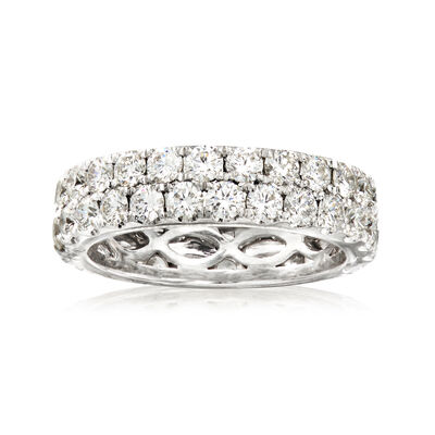 Henri Daussi 2.35 ct. t.w. Diamond Eternity Band in Platinum