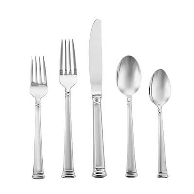 "Lenox ""Eternal Frosted"" 20-pc. Stainless Steel Flatware Set, , default"