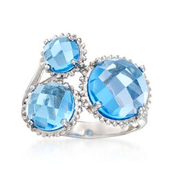 8.30 ct. t.w. Blue Topaz Cluster Ring in Sterling Silver, , default