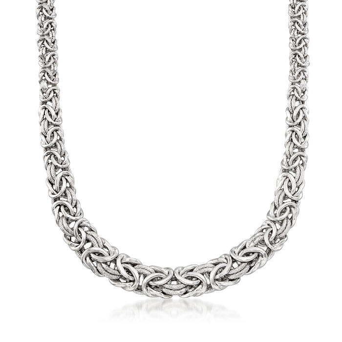 Italian Sterling Silver Byzantine Necklace, , default