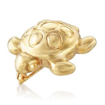 Italian 14kt Yellow Gold Turtle Pin