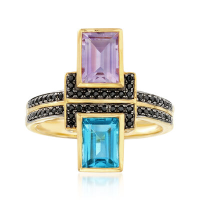 1.80 ct. t.w. Multi-Stone Ring in 18kt Gold Over Sterling, , default