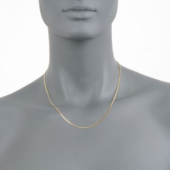 1.5mm 14kt Yellow Gold Gourmette Chain Necklace, , default