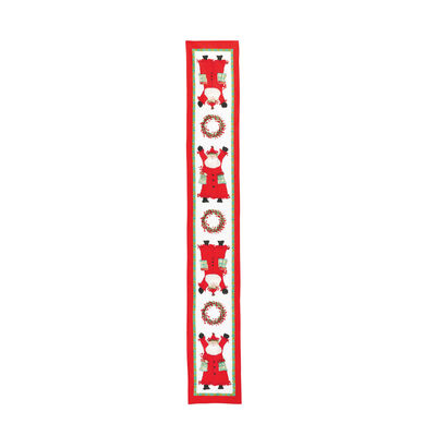 """Vietri """"Old St. Nick"""" Table Runner from Italy"""
