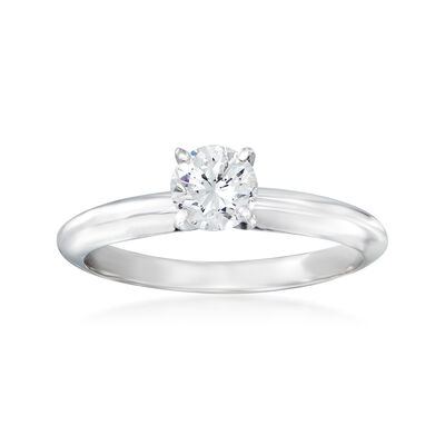 .54 Carat Certified Diamond Solitaire Ring in 14kt White Gold