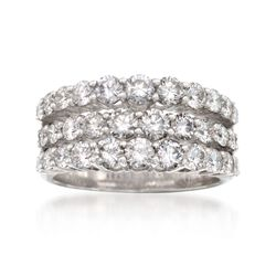Simon G. 2.30 ct. t.w. Diamond Wedding Ring in 18kt White Gold, , default