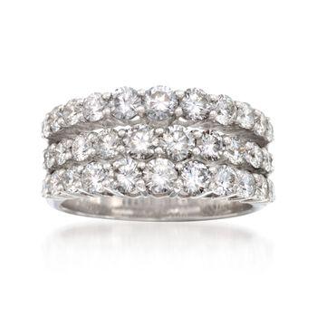 Simon G. 2.30 ct. t.w. Diamond Wedding Ring in 18kt White Gold, , default