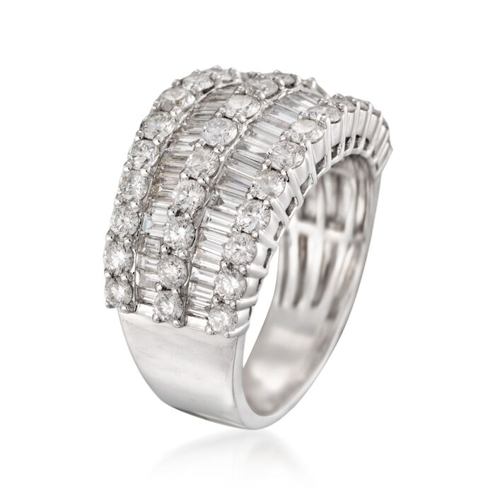 2.60 ct. t.w. Diamond Multi-Row Ring in 14kt White Gold