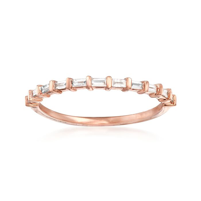 .16 ct. t.w. Baguette Diamond Band Ring in 14kt Rose Gold