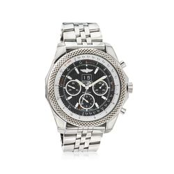 Breitling Bentley 6.75 Speed Men's 49mm Auto Chronograph Stainless Steel Watch - Black Dial, , default