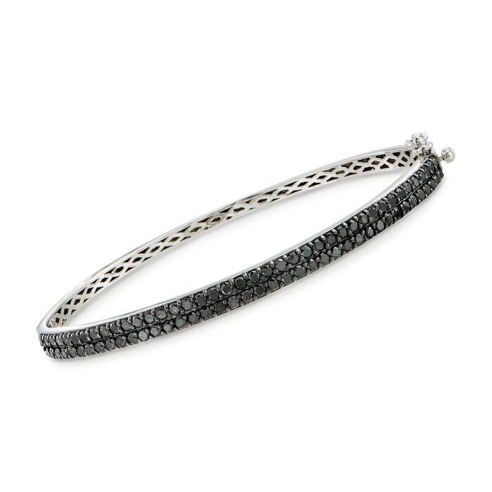 2.00 ct. t.w. Black Diamond Bangle Bracelet in Sterling Silver, , default