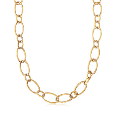 C. 1990 Vintage Nouvelle Bague Cable-Link Necklace in 18kt Yellow Gold, , default