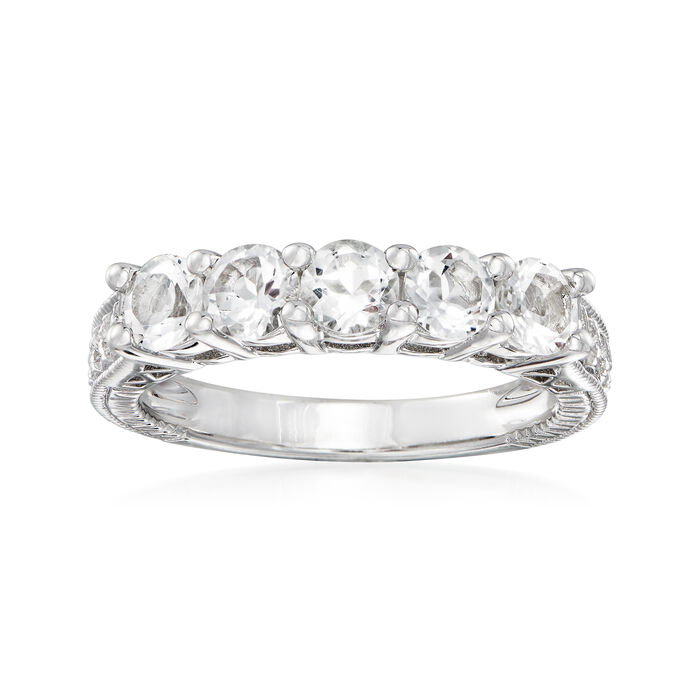 1.50 ct. t.w. White Topaz Five-Stone Ring in Sterling Silver