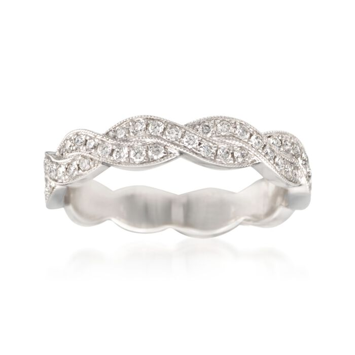 .31 ct. t.w. Diamond Woven Ring in 14kt White Gold