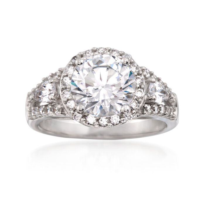 3.70 ct. t.w. CZ Ring in Sterling Silver, , default