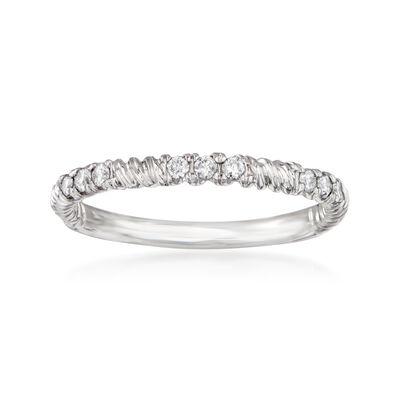 .16 ct. t.w. Diamond Twist Ring in 14kt White Gold
