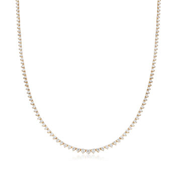5.00 ct. t.w. Diamond Tennis Necklace in 14kt Yellow Gold, , default