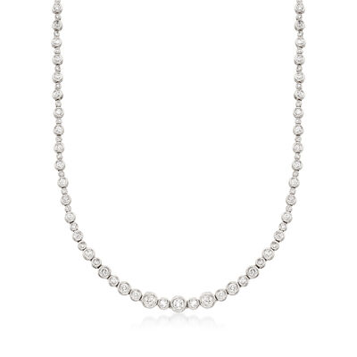 3.50 ct. t.w. Diamond Bubble Bezel Necklace in 14kt White Gold, , default