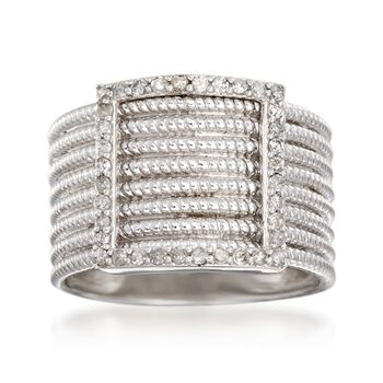 .25 ct. t.w. Diamond Buckle Ring in Sterling Silver, , default