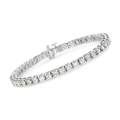 7.00 ct. t.w. Diamond Tennis Bracelet in 14kt White Gold, , default