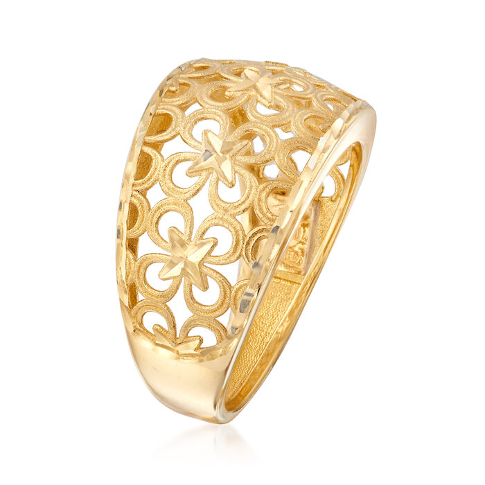 Italian 18kt Yellow Gold Floral Ring