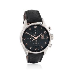 TAG Heuer Carrera 1887 Men's 43mm Chronograph Stainless Steel Watch With Black Alligator Strap, , default