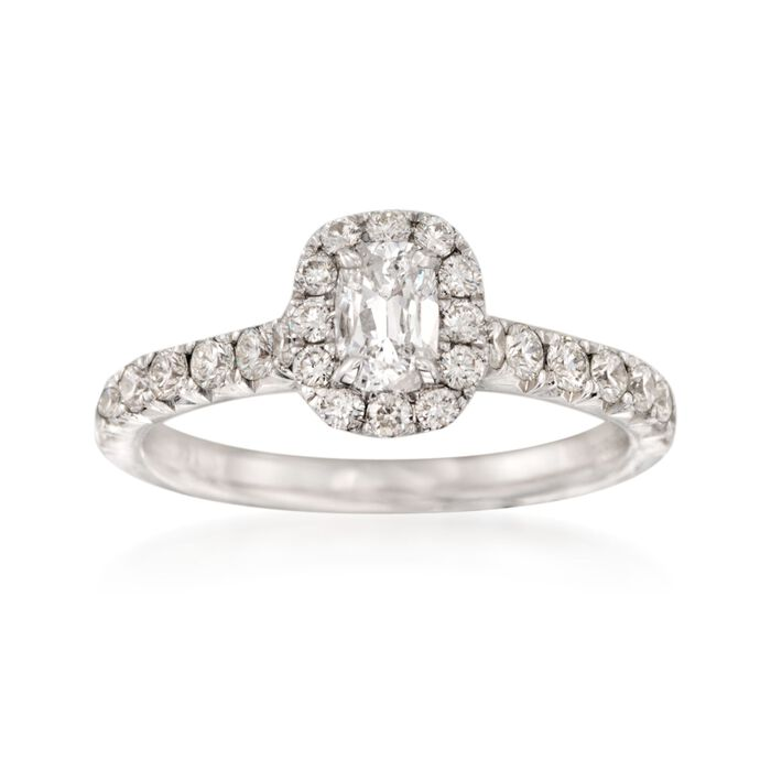 Henri Daussi 1.03 ct. t.w. Diamond Engagement Ring in 14kt White Gold, , default
