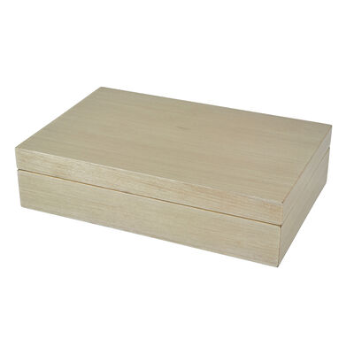 Taupe Wooden Box