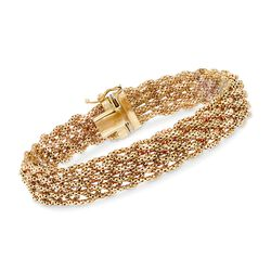 Italian 14kt Yellow Gold Braided Chain Bracelet, , default