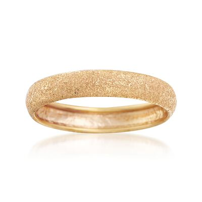 Italian 14kt Yellow Gold Textured Ring, , default