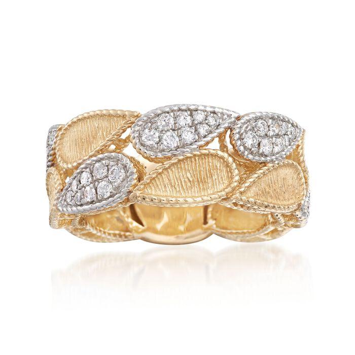 .45 ct. t.w. Diamond Teardrop Ring in 14kt Yellow Gold. Size 5, , default