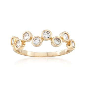 .40 ct. t.w. Bezel-Set CZ Ring in 14kt Yellow Gold, , default