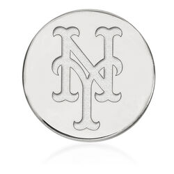 14kt White Gold MLB New York Mets Lapel Pin, , default