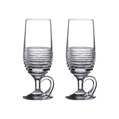 """Waterford Crystal """"Mixology Circon"""" Set of 2 Hot Cocktail Glasses"""