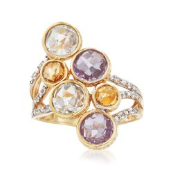 3.90 ct. t.w. Multi-Stone Ring in 14kt Gold Over Sterling. Size 5, , default