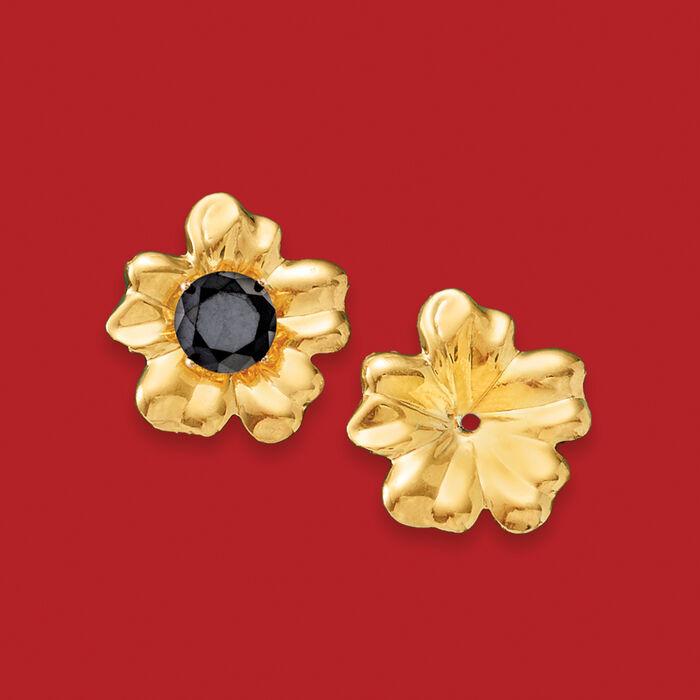 14kt Yellow Gold Flower Petal Earring Jackets